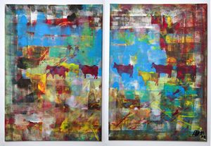 cows (diptych)