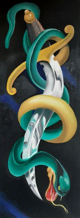 Snake and dagger - Michael canavan