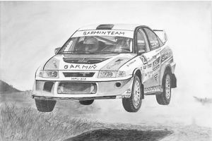 Flying Rally Car