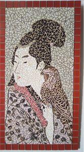 Mosaic painting representing a Japan