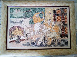 Table of a mosaic Festive Christmas