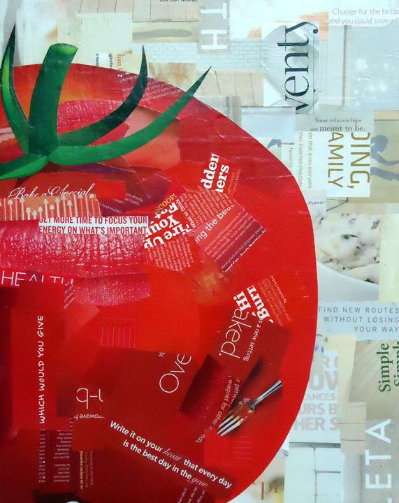 Tomato Collage - Second Page Studio