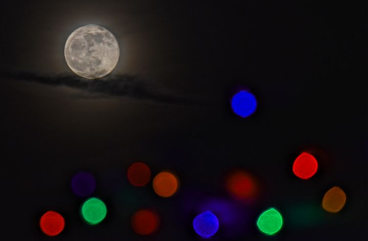 Christmas Moon - Doodles and Photos by Michele Wish