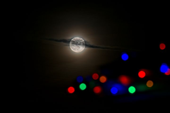 Christmas Moon 3 - Doodles and Photos by Michele Wish