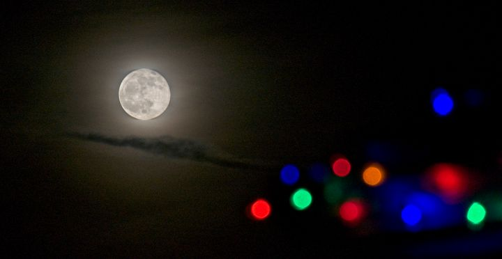 Christmas Moon 2 - Doodles and Photos by Michele Wish