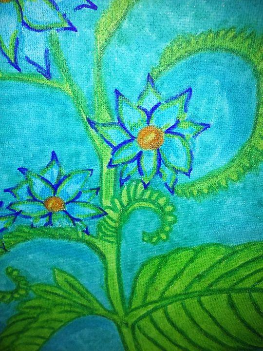 Blue Flower - NEEDED ART BY LENA