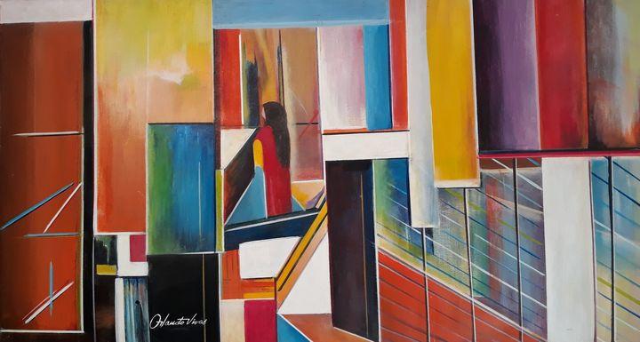 Mujer de Rojo - Orlando Vivas Art