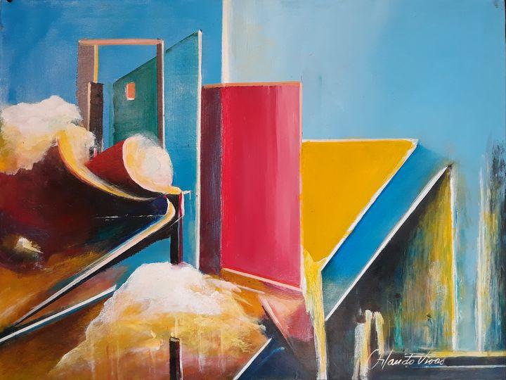 Rojo entre Amarillo y Azul - Orlando Vivas Art