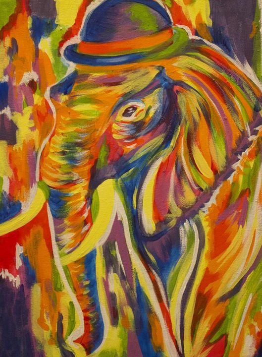 Rainbow Elephant - Paintings