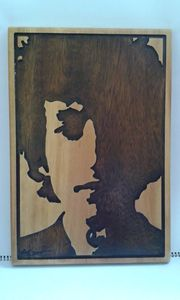 Bob Dylan Timber artwork - Timber art