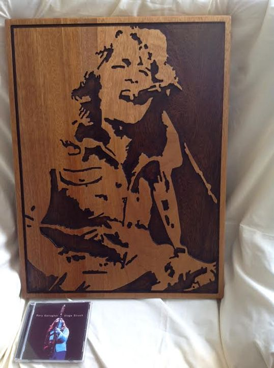 Rory Gallagher timber artwork - Timber art