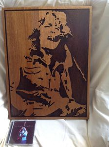 Rory Gallagher timber artwork