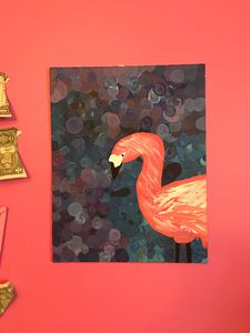 Swirled Flamingo