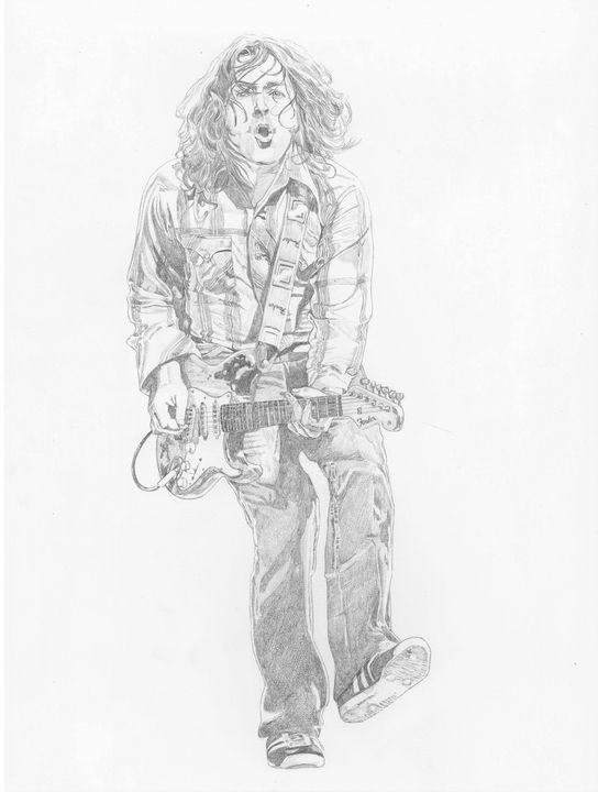 Rory Gallagher on stage - Jay-mus gallery