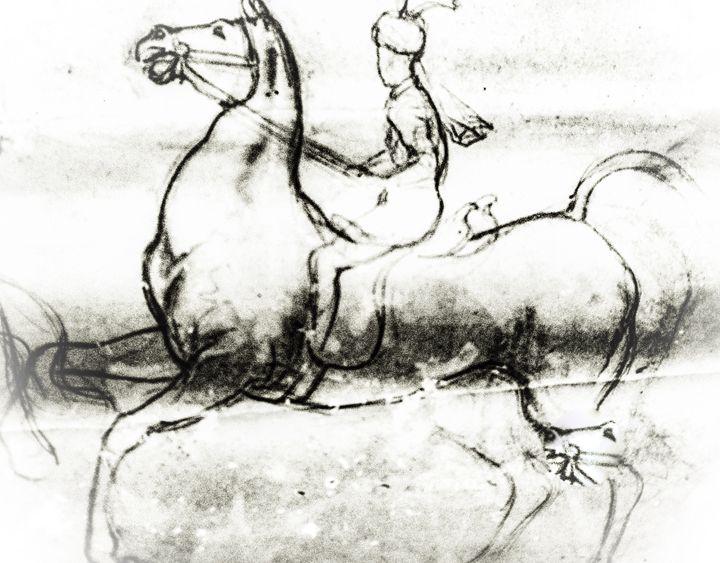 Mounted Horse - Gagan's Art