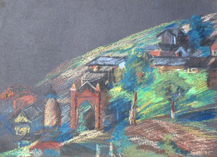 Entrance to a village - Gagan's Art