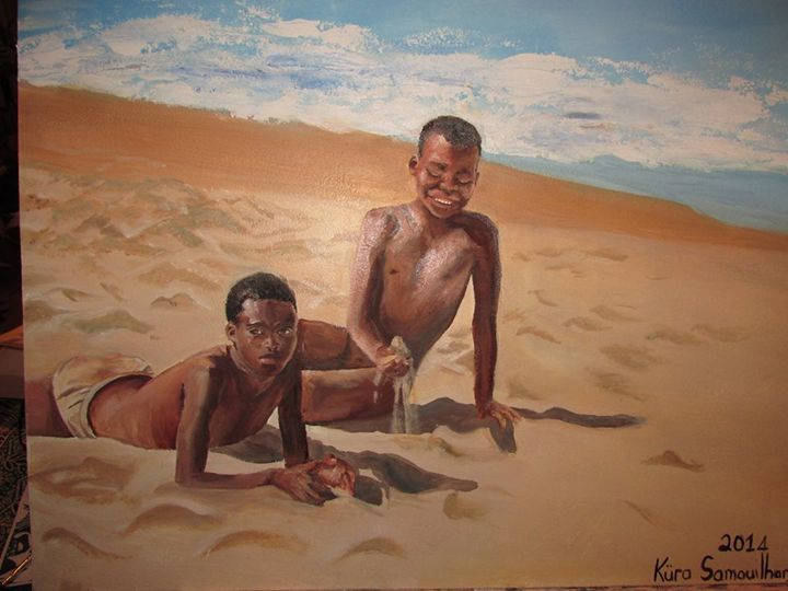 Boys playing in the sand - Küra Samouilhan