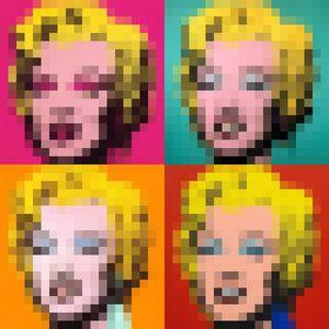 Marilyn Monroe by Warhol (Pixel Art)