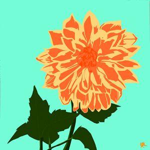 The Dahlia - In Orange - A-M Labbate