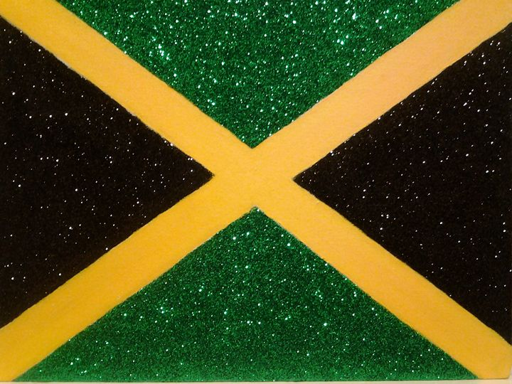 DAZZLING JAMAICAN FLAG - Canvases by Rob Loren