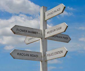Bangkok Thailand Directional Signs