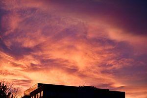 Dramatic Denver Sunset