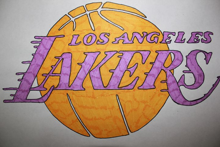 Lakers Logo Sketching With Ginny Drawings Illustration