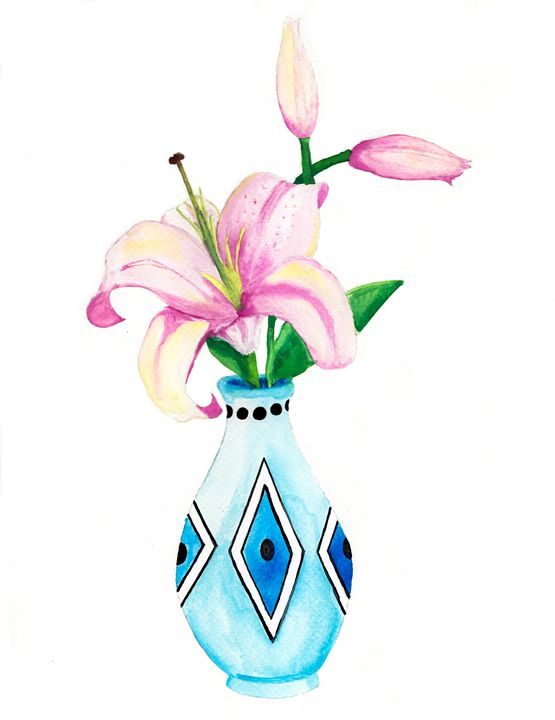 Oriental Lilies - Rebecca Strobl