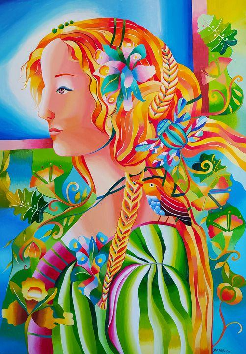 The saleswoman of flowers - MairimPerezRoca