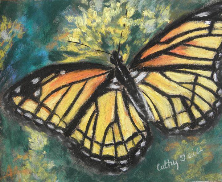 Monarch Butterfly - Cathy E Geib Art