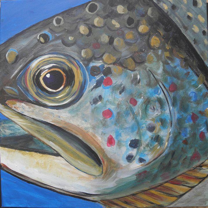 Brook Trout - Cathy E Geib Art