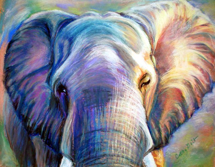 Elephant Blue - Cathy E Geib Art