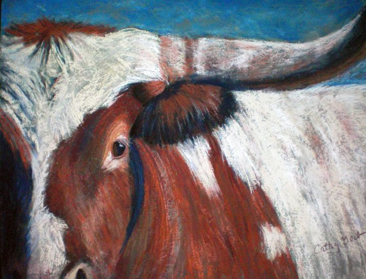 Texas Longhorn - Cathy E Geib Art
