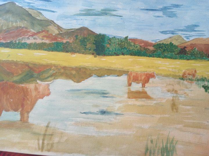 Highland Scene - Art By Loui