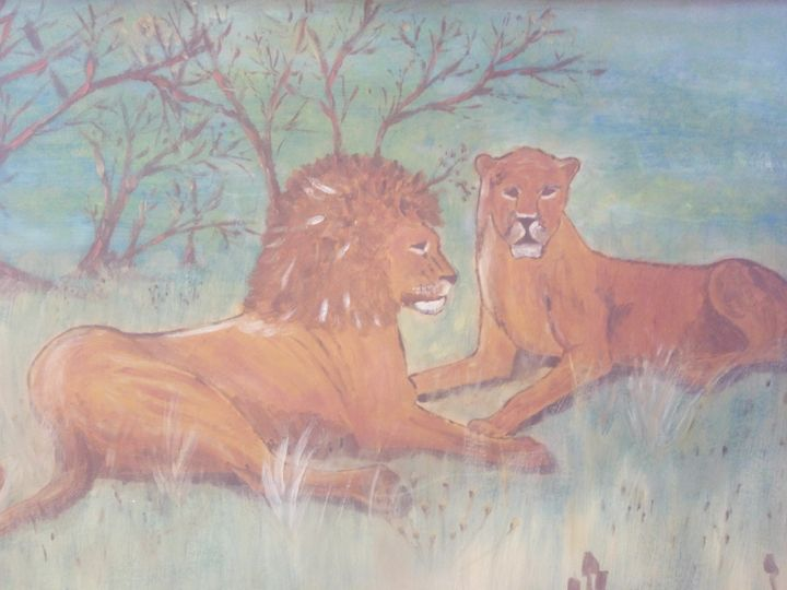 Two Lions - Art By Loui