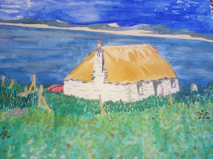 Little Croft On The Hebrides - Art By Loui