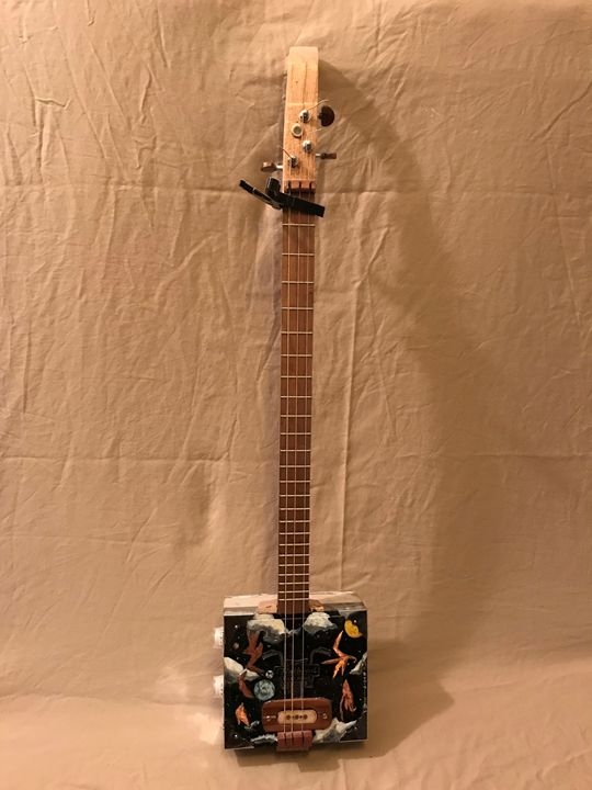 cigar box guitar 3 - the Crow art gallery