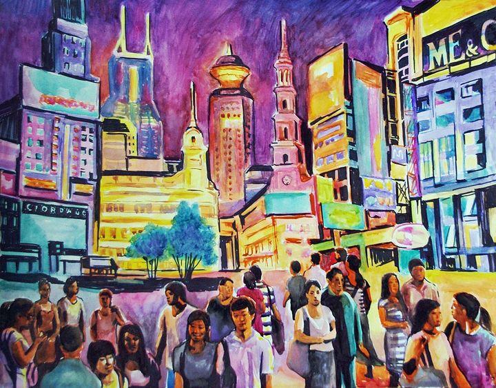 Shanghai at night - Sandra Gala Art
