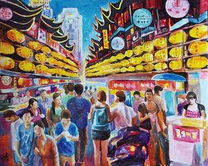 Shanghai. Street fair