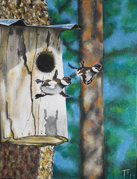 South Carolina Wood Ducklings - MyMixedMedia