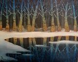 Frozen Birch trees