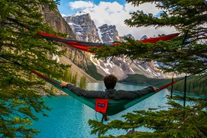 Hammocking Over Moraine Lake
