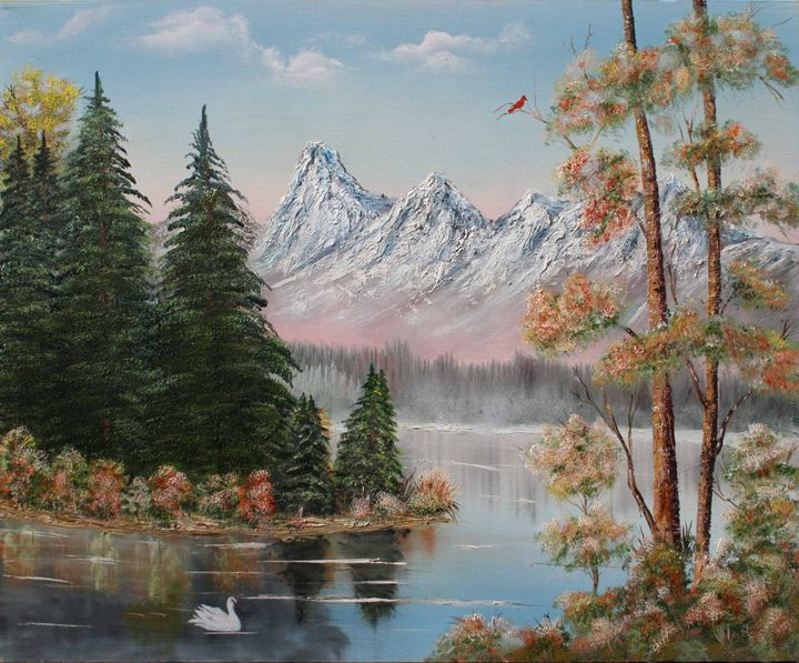 Lake in Mountains - Gerlinda Arts