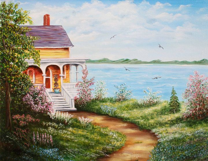House on the Lake - Gerlinda Arts