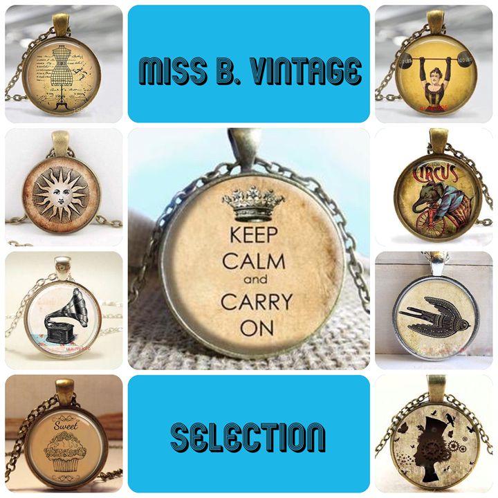 vintage cabochon - Miss B.