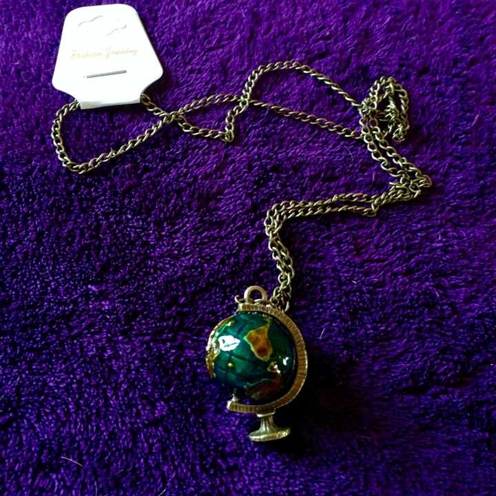 globe necklace - Miss B.