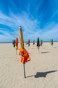 The beach of Les Planches Deauville