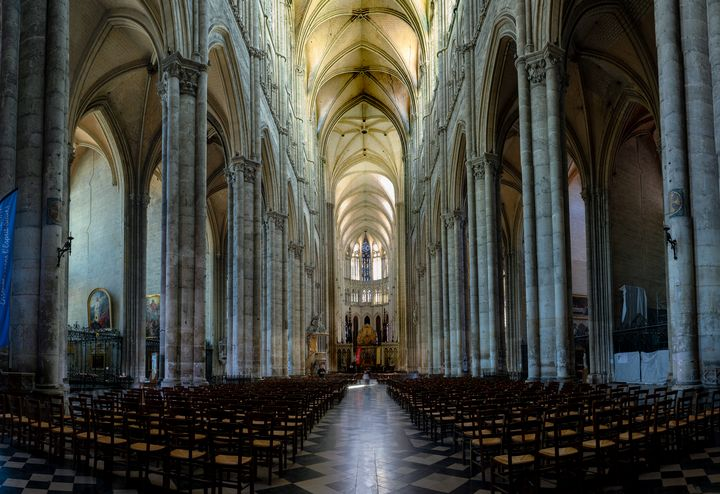 Interior of Amiens Cathedral - Gilles B Photographe