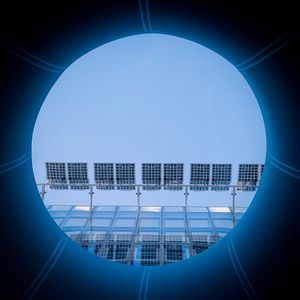 A blue disk in a blue square