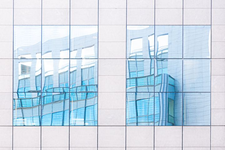 Reflection in blue - Gilles B Photographe